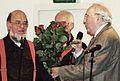 Karlheinz Drechsel gratuliert Umbrella Jazzmen 50.JPG