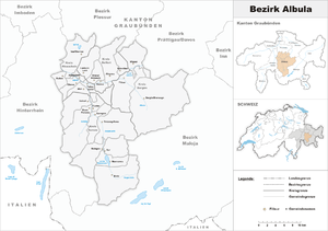 Albula District - Image: Karte Bezirk Albula 2007