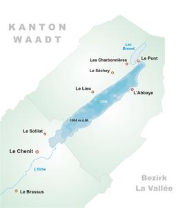 Karte Lac de Joux