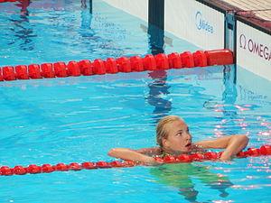 Rūta Meilutytė - 100m breast semi-final in Kazan 2015