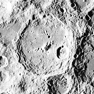 Keeler (lunar crater) - Lunar Orbiter 2 image