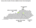 Kentucky counties and cities with domestic partnerships.png