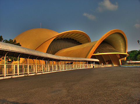The Golden Snail IMAX theatre at Taman Mini Indonesia Indah