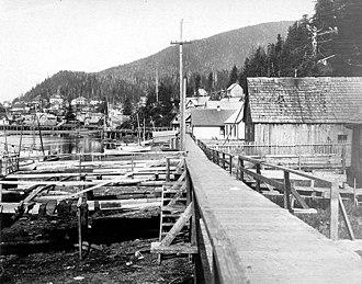 Ketchikan Creek - View of Ketchikan from Ketchikan Creek, September 1918