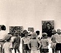 Kibbutz children at Ein Harod Museum exhibition in 1950s.jpg