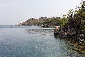Deutsch: Das Ufer des Tanganjikasees bei Kigom...