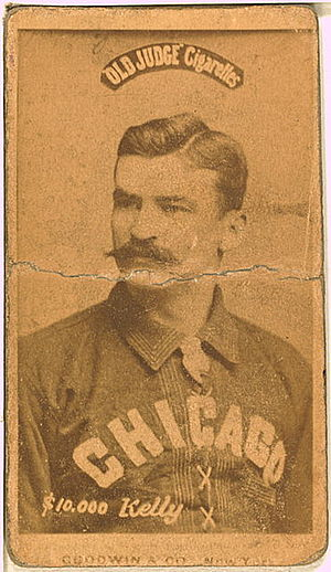 "King Kelly - ""$10,000 Kelly"" baseball card (N172), ca. 1887-90"