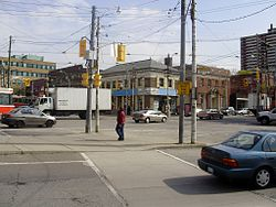Parkdale from the southwest of Roncesvalles Avenue and The Queensway