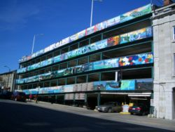 A multi-story car park in Kingston, Ontario