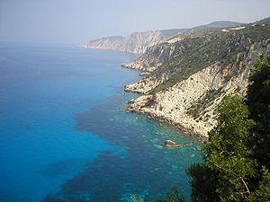 Ionian Sea - The Ionian Sea, view from the island Kefalonia, Greece