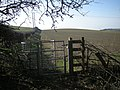 Kissing gate and field - geograph.org.uk - 1758520.jpg