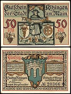 Kitzingen 50 Pfennig 1921 Schiffbauer.jpg