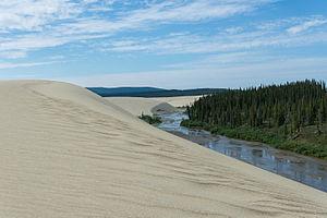 Kobuk Valley National Park - The Great Kobuk Sand dunes located in the Kobuk Valley National Park in northwestern arctic Alaska.