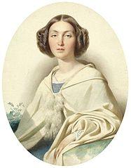 Miniature of Marianne of Orange-Nassau (1810-1883).