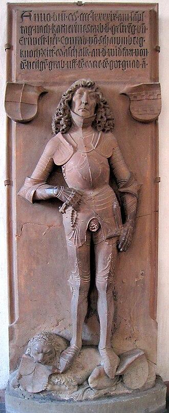 Marienkapelle, Würzburg - Tomb of Konrad von Schaumburg, by Tilman Riemenschneider