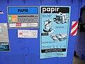 Kontejner na papír, Topolová, označení.jpg