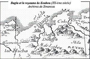Kingdom of Ait Abbas - Map of the kingdom of Kuku and the kingdom Ait Abbas (Labes) according to the Spanish map of the sixteenth century, preserved in the archives of Simancas.