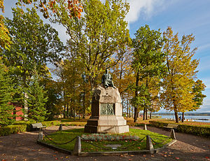 Culture of Estonia - Monument to Friedrich Reinhold Kreutzwald, the composer of Estonian national epic Kalevipoeg.