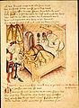 Kriemhild bittet Etzel ihre Brueder einzuladen Hundeshagenscher Kodex.jpeg