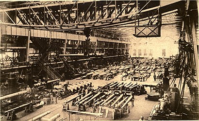 The Krupp armaments factory in Essen photographed circa 1915.