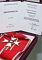Krzyż Komandorski Orderu Odrodzenia Polski przyznany ppłk. Kazimierzowi Szpądrowskiemu.jpg