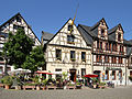 Kulturdenkmal Oberwesel, Marktplatz 1. Fachwerkhaus 18. Jh.jpg