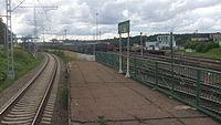 Kuntsevo-2 railway station (view from east edge of platform).JPG