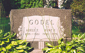 English: Picture of the tomb of Kurt Godel in ...
