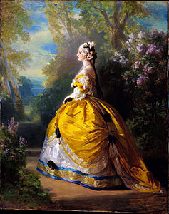 The Empress Eugenie Dressed As Marie Antoinette Painted By Franz Winterhalter 1854