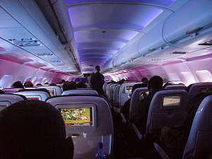 Airbus A320neo family - Virgin America Airbus A320 Enhanced economy class cabin with LED lighting