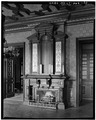 LIBRARY MANTEL - Lockwood-Mathews House, Veterans' Memorial Park, Southeast, Norwalk, Fairfield County, CT HABS CONN,1-NOWA,2-20.tif