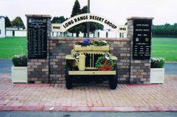 British Long Range Desert Group Memorial at Papakura Army Base.