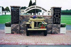 Papakura District - British Long Range Desert Group Memorial at Papakura Army Base.