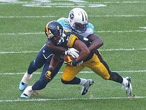 Bernard Pollard - Pollard tackling Steelers running back LaRod Stephens-Howling.