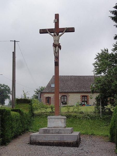 La Hérie (Aisne) croix de chemin