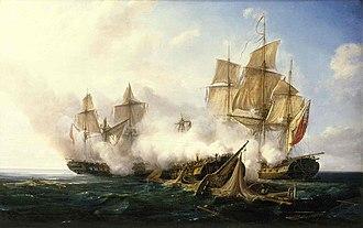 Adriatic campaign of 1807–1814 - La Pomone contre les frégates HMS Alceste et Active Pierre Julien Gilbert