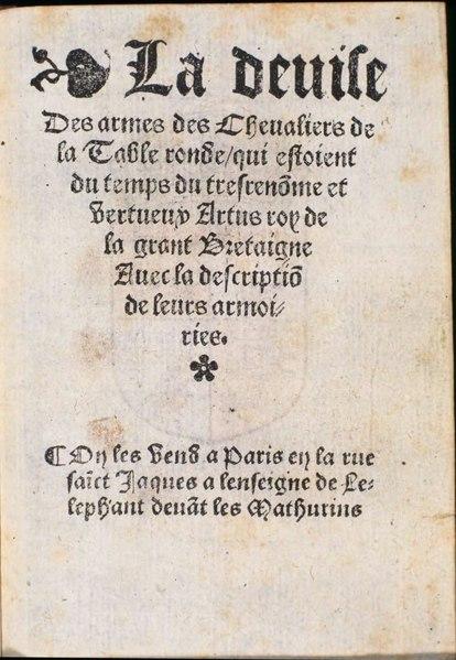 File:La devise des armes des chevaliers de la Table ronde.djvu