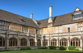 Lacock Abbey - The internal courtyard of the cloisters