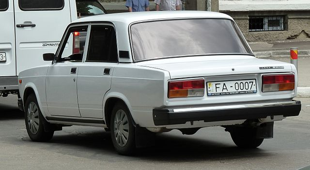 Lada 2107 with military plate from Moldova