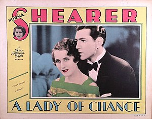 A Lady of Chance - Lobby card