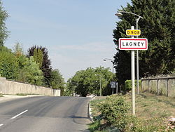 Lagney (Meurthe-et-M.) city limit sign.JPG