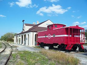 L'ancienne gare de l'Atlantic Coast Line Railroad.