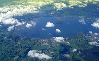 Lake Rotorua - Lake Rotorua from the air