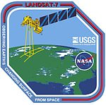 Landsat 7 Mission Patch.