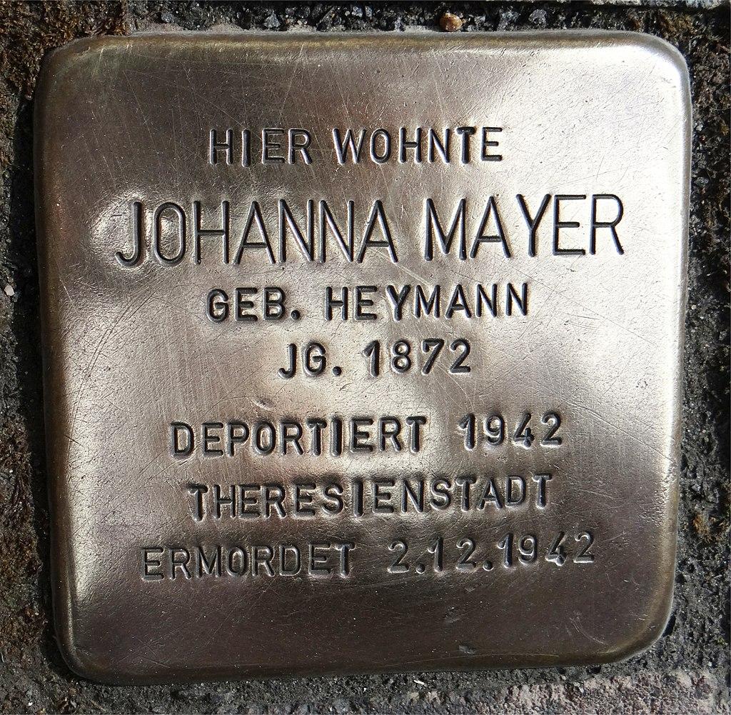 Langenlonsheim Stolperstein Naheweinstraße 132 Johanna Mayer.jpg