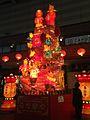 Lantern showing mice wedding in front of Nagasaki Station at night.jpg