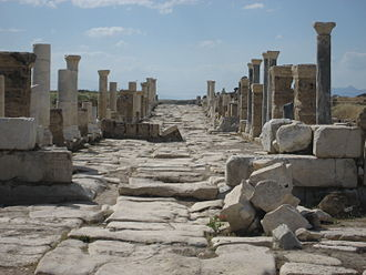 Laodicea on the Lycus - Colonnaded street in Laodicea