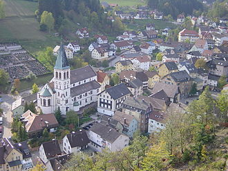 Lauterbach, Baden-Württemberg - The centre of Lauterbach with Catholic church St Michael