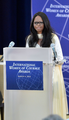 Laxmi delivers remarks at IWOC awards March 4 2014.png