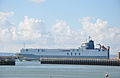 Le Havre (France) UECC ship going in port.jpg